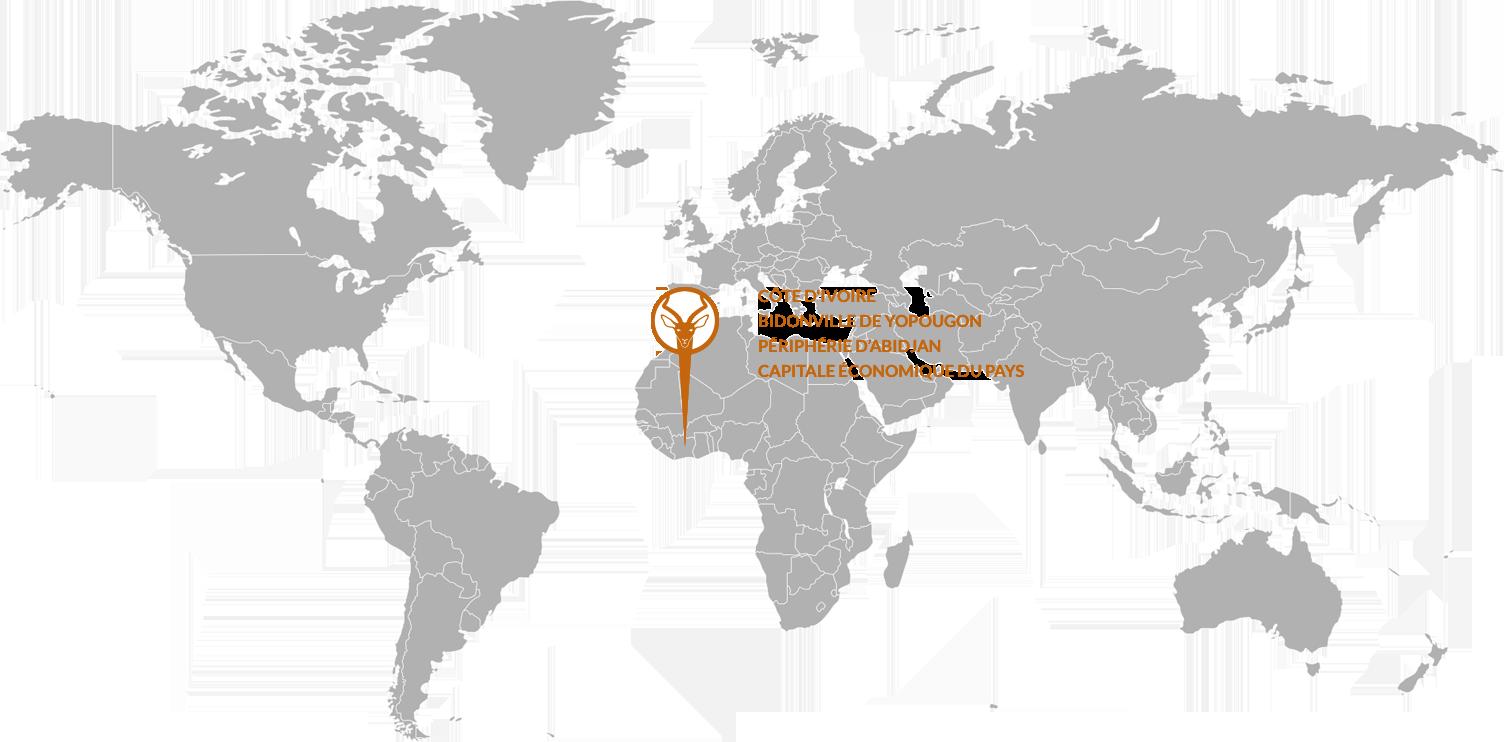 map cote d'ivoire